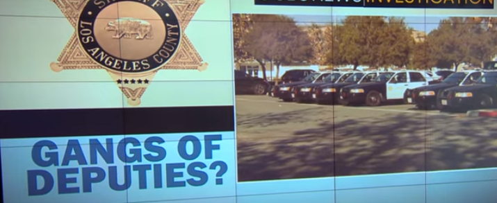 deputies say gangs exist within los angeles sheriffs department
